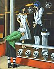 Halloween Shopping - portrait by LindaAppleArt