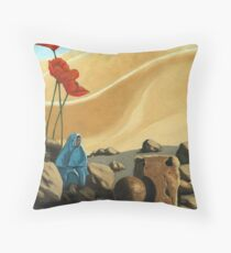 The Meeting - surreal,fantasy oil painting Throw Pillow