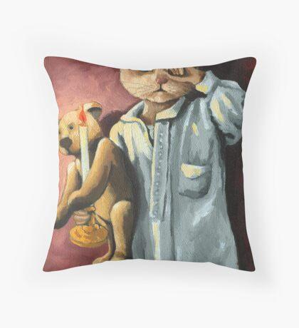 Wee Willie Winkie on Xmas Eve Throw Pillow