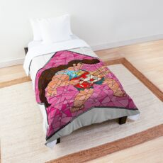 Stained Glass Steg on Pink Comforter