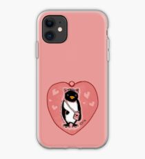 Pink Kitty Penguin iPhone Case