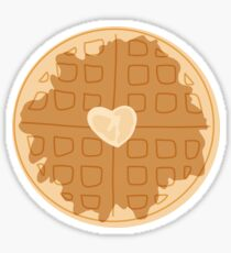 Everyday is waffle day art Sticker