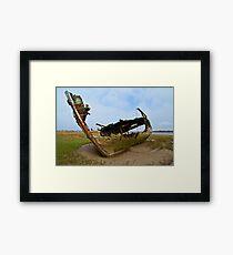 Marsh Wreck  Framed Print