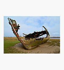 Marsh Wreck  Photographic Print