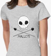 Skull & Cross-Mallets Women's Fitted T-Shirt