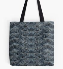 CRazy Oil PaintinG Blue/Grey Wavey Tote Bag