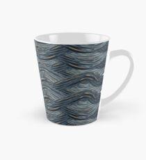 CRazy Oil PaintinG Blue/Grey Wavey Tall Mug