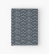 CRazy Oil PaintinG Blue/Grey Wavey Hardcover Journal