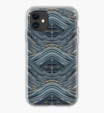 CRazy Oil PaintinG Blue/Grey Wavey iPhone Case