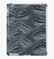 CRazy Oil PaintinG Blue/Grey Wavey iPad Case/Skin