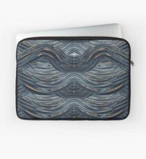 CRazy Oil PaintinG Blue/Grey Wavey Laptop Sleeve