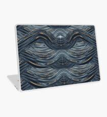 CRazy Oil PaintinG Blue/Grey Wavey Laptop Skin