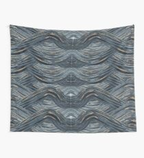 CRazy Oil PaintinG Blue/Grey Wavey Wall Tapestry