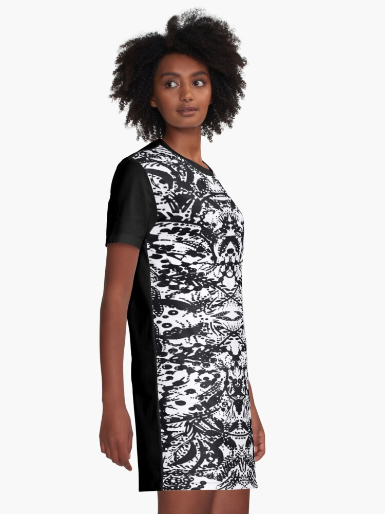 Alternate view of Ink Spot Jungle Graphic T-Shirt Dress