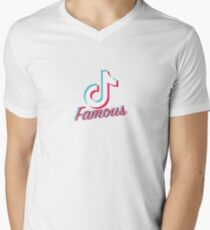 Camiseta de cuello en V Tik Tok Famoso vers.3