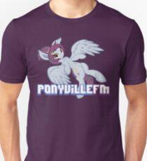 Aerial Soundwaves With PonyvilleFM logo T-Shirt