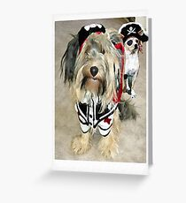 two pirate dogs Greeting Card