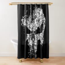 Puniskull Shower Curtain