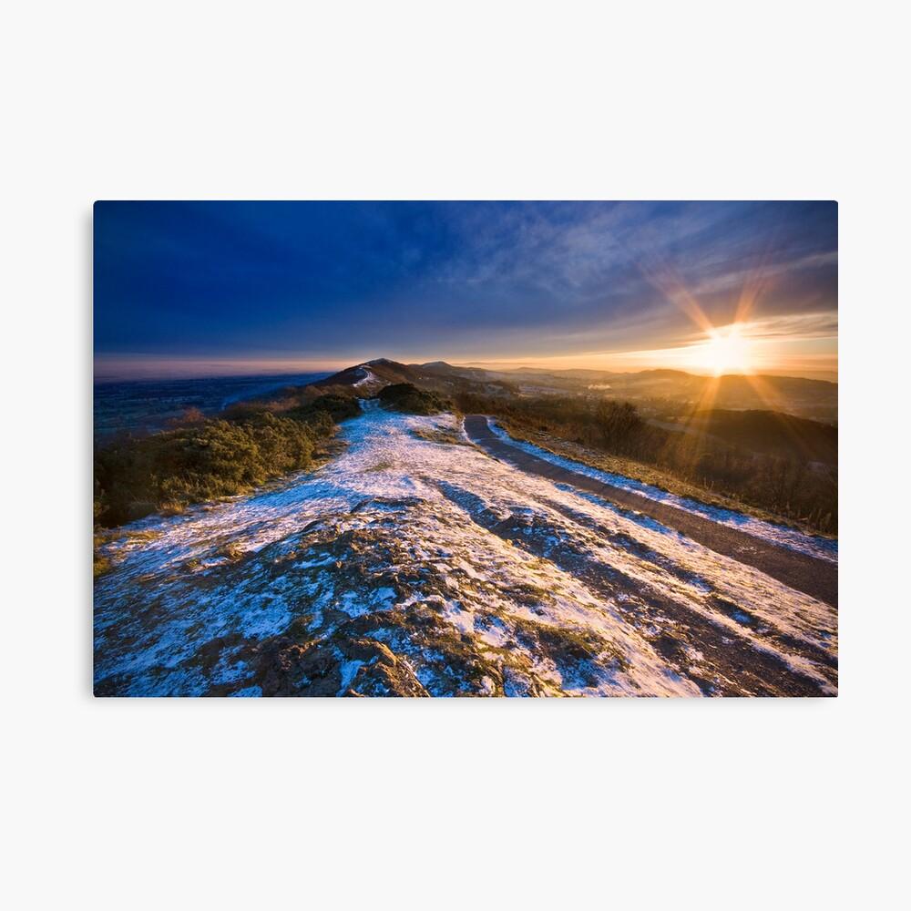 Malvern Hills: Winter Sunset Canvas Print