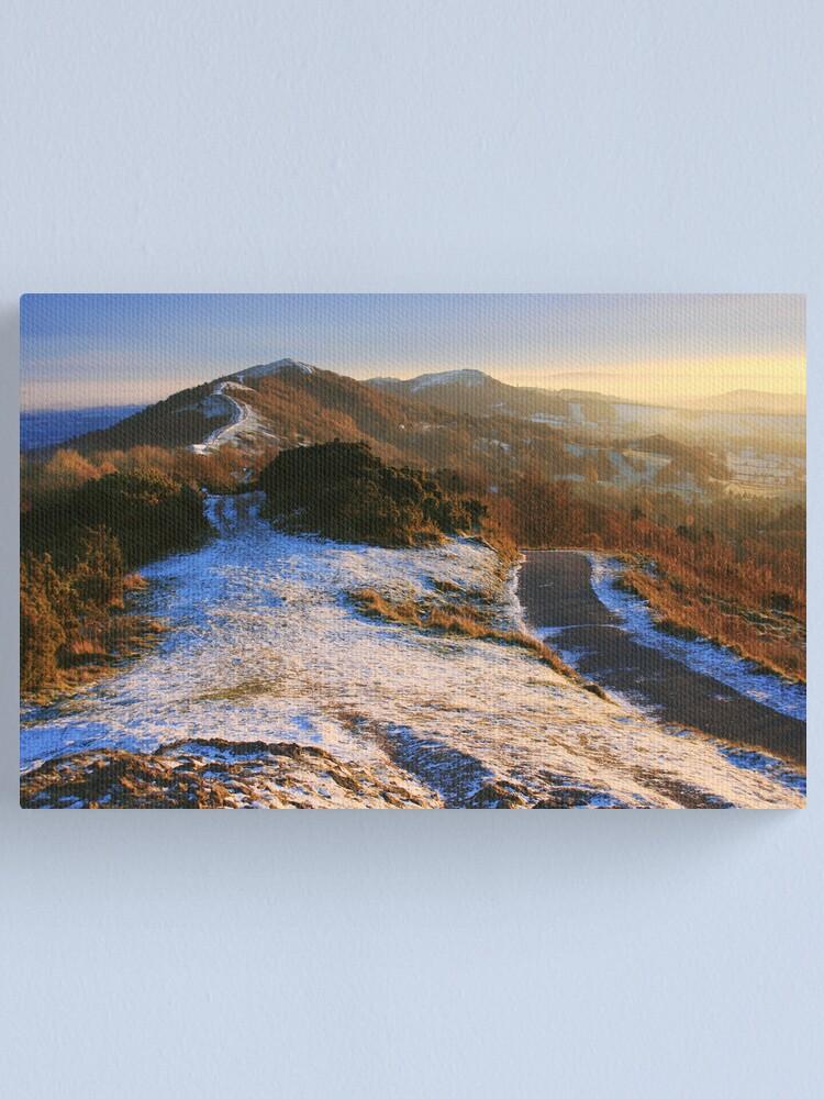 Alternate view of Malvern Hills: Winter Walk Canvas Print