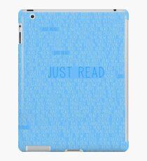 Just Read Blue iPad Case/Skin