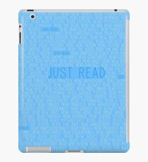 Vinilo o funda para iPad Just Read Blue