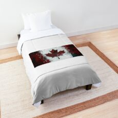 Canada Flag Grunge Distressed Cool Comforter