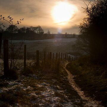 Winter sunset by luke-vw