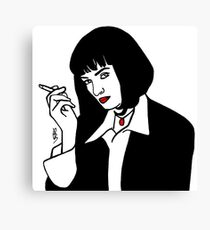 Mia Wallace Pulp Fiction Canvas Print