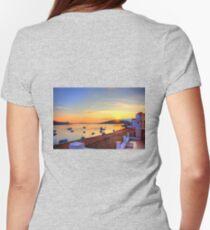 Halki Sunrise Womens Fitted T-Shirt