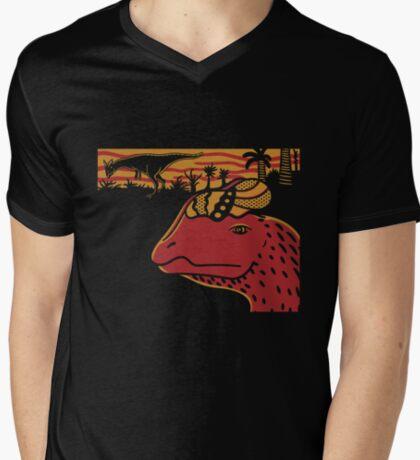 Dilophosaurus Duo - Orange and Red T-Shirt