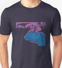 Dilophosaurus Duo - Magenta and Blue Unisex T-Shirt