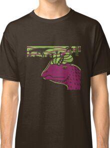 Dilophosaurus Duo - Green and Purple Classic T-Shirt