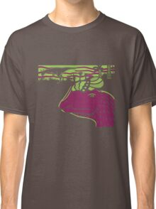 Dilophosaurus Duo - Green and Purple Classic T-Shirt