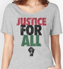 JUSTICE FOR ALL: BLACK LIVES MATTER Women's Relaxed Fit T-Shirt