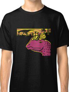 Dilophosaurus Duo - Yellow and Pink Classic T-Shirt