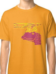 Dilophosaurus Duo - Yellow and Pink Classic T-Shirt