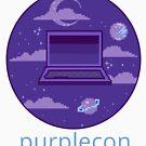 purplecon 2019 shirt 1 (for purple background) by purplecon