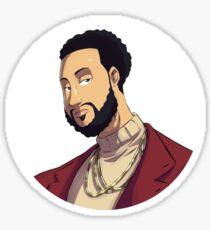 Portrait | Created by @cknightart Glossy Sticker