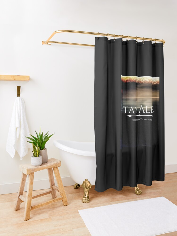 Alternate view of Stay Alive Shower Curtain