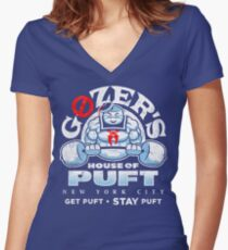 House of Puft Women's Fitted V-Neck T-Shirt