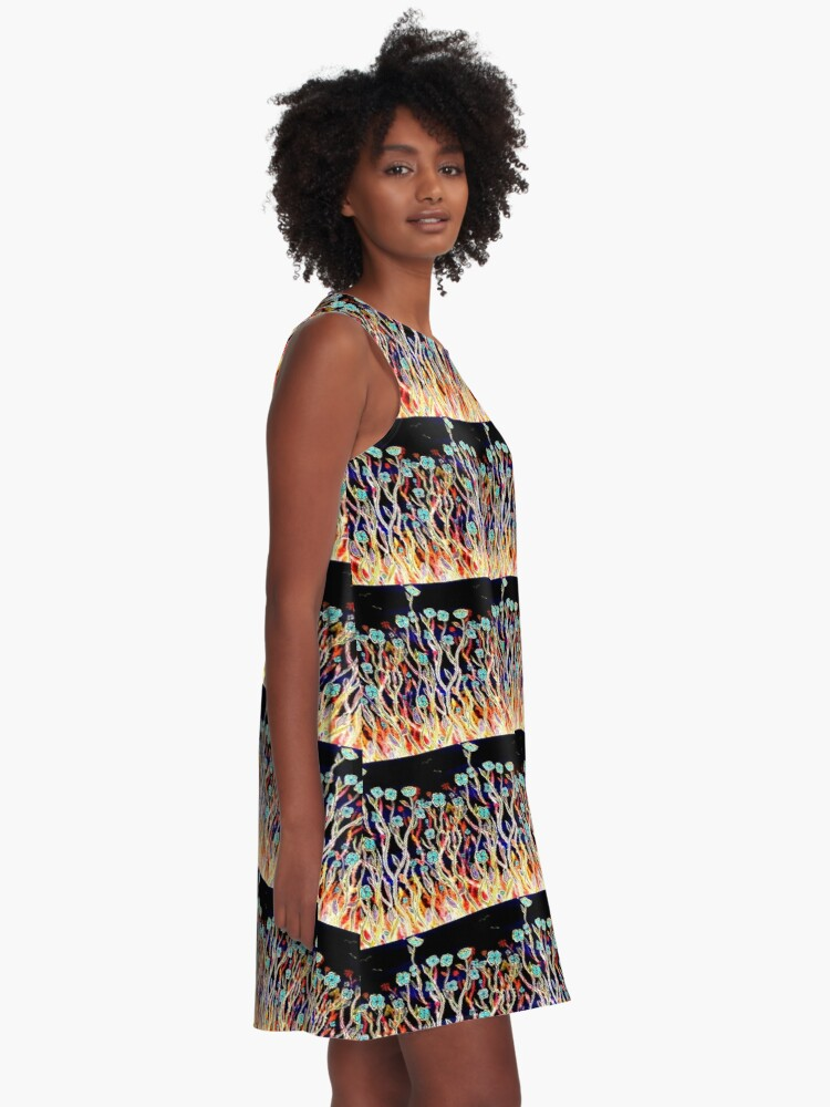 Alternate view of Spring Time Flowers A-Line Dress