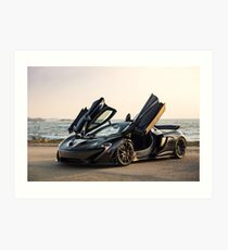 McLaren P1 Sitting Seaside Art Print