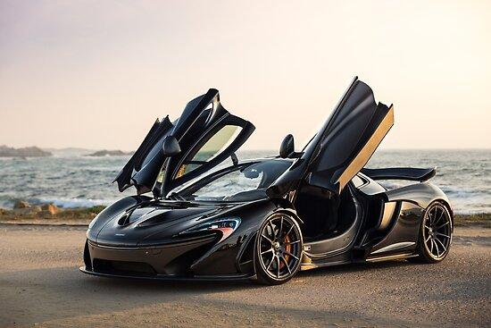 McLaren P1 Sitting Seaside