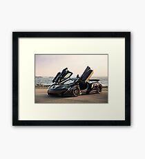 McLaren P1 Sitting Seaside Framed Print