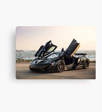 McLaren P1 Sitting Seaside Canvas Print