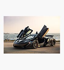 McLaren P1 Sitting Seaside Photographic Print