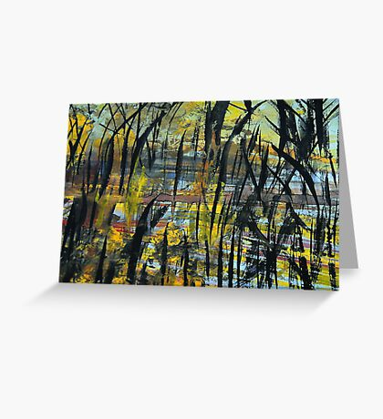 scorched rain forest..... starting over Greeting Card