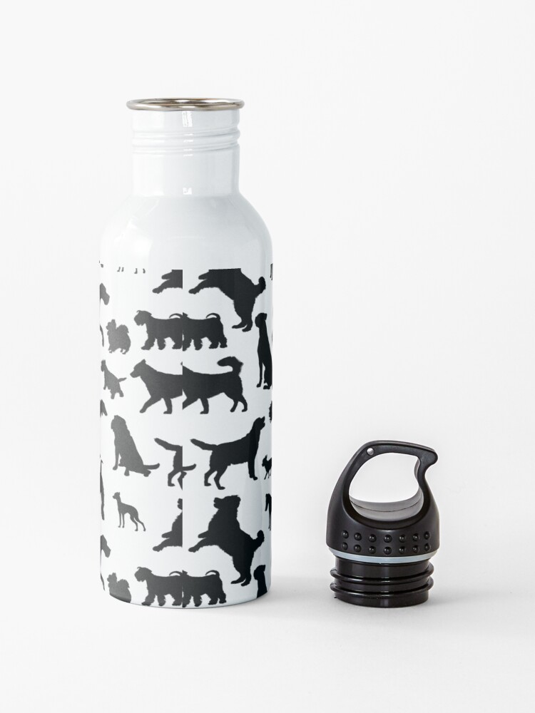 Alternate view of Dog Pattern | Puppy Pet Dog Owner Breed  Water Bottle