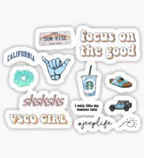 VSCO aesthetic mixed pack Sticker
